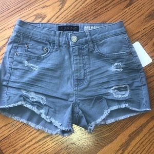 Aeropostale Denim Shorts High Waisted SHORTY Blue